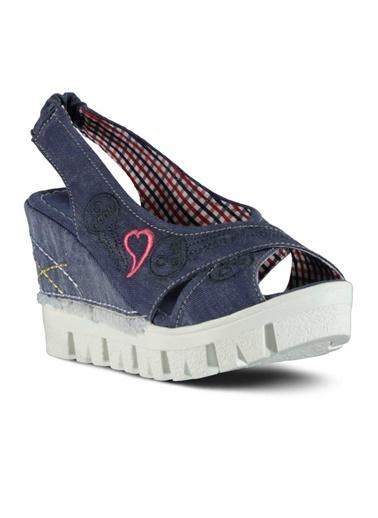 Dolgu Topuk Sandalet-Marjin